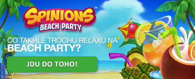 Z 10 zdarma spinů €220!! na automatu Spinions Beach Party