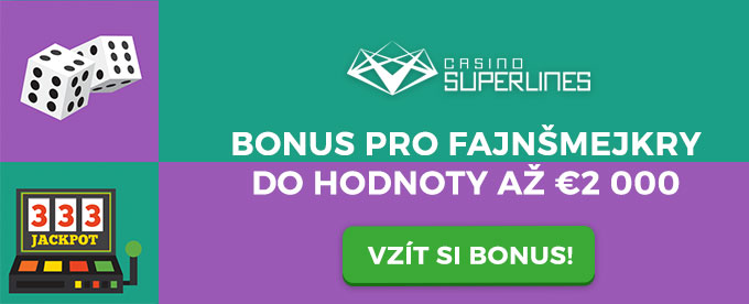 Vem si obrovský bonus v casinu Superlines