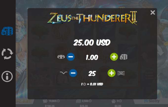 Herní automat Zeus the Thunderer 2
