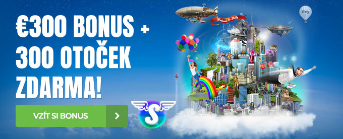 100% bonus do €300 + 300 Free Spins
