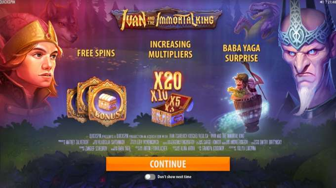 Ivan and the Immortal King casino hra