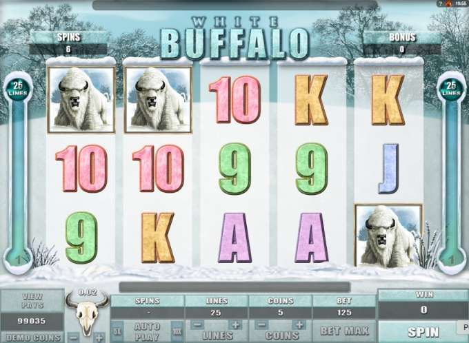White Buffalo casino hra