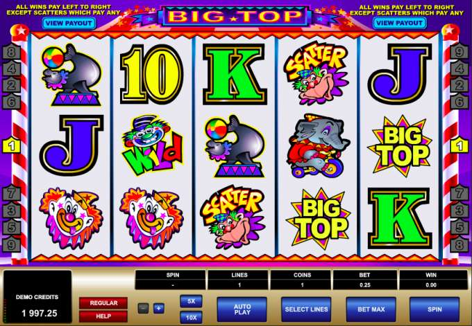 Big Top casino hra