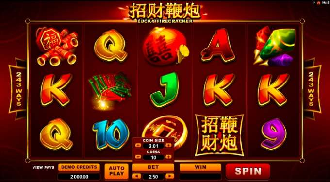 Lucky Firecracker casino hra