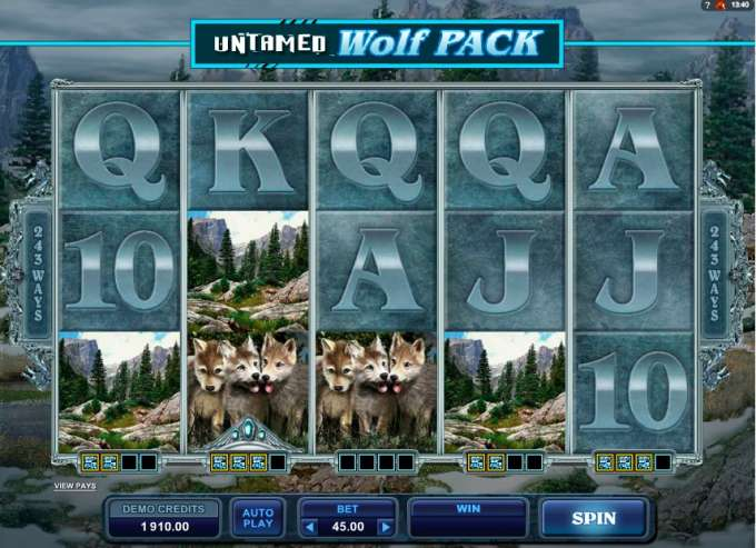 Untamed Wolf Pack hrací automat