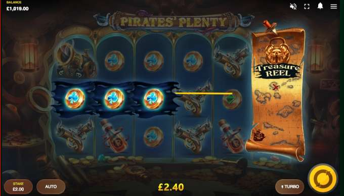 Pirates Plenty ThE Sunken Treasure herní automat od vývojářů Microgaming