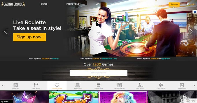 Casino online neboli CasinoCruise