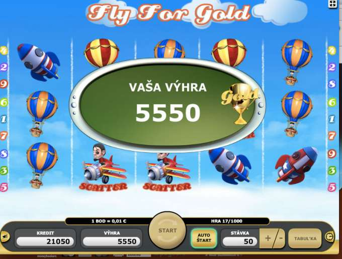 Fly For Gold bonus
