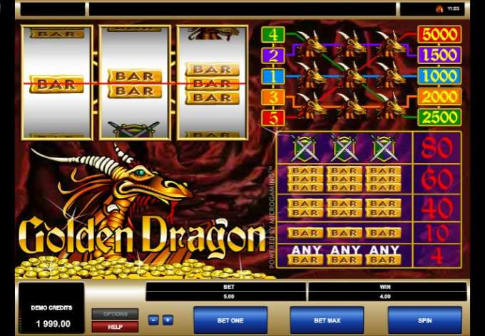 Golden Dragon bonus