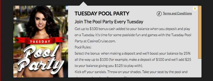Pool Party v Casino Cruise
