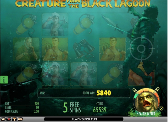 Creature from the Black Lagoon - herní online automat