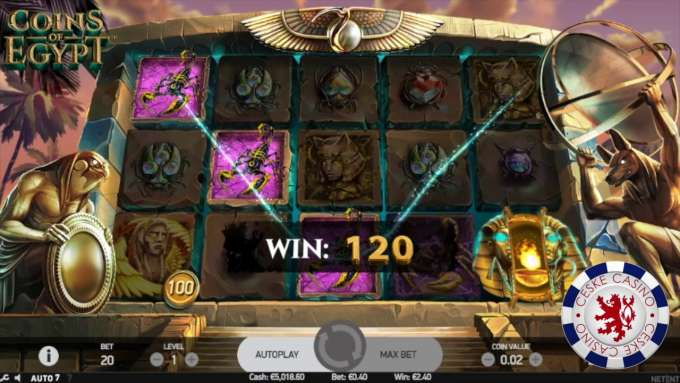 Coins of Egypt | 10 Free spins | Bob Casino