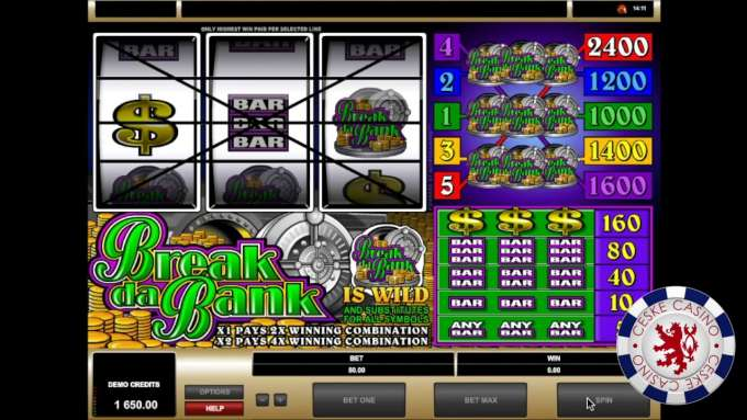Break da Bank | 10 Free spins | Bob Casino